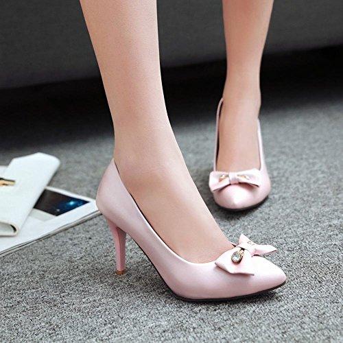Mee Shoes Damen Stiletto mit Schleife Pumps Pink