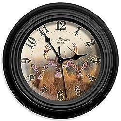 Reflective Art 10in Wall Clock - Buck Stops Here 10