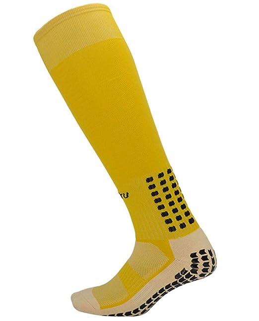 XXSPU Calcetines, medias calcetines deportivos calcetines de fútbol para correr medias, calcetines de formación, amarillo: Amazon.es: Ropa y accesorios