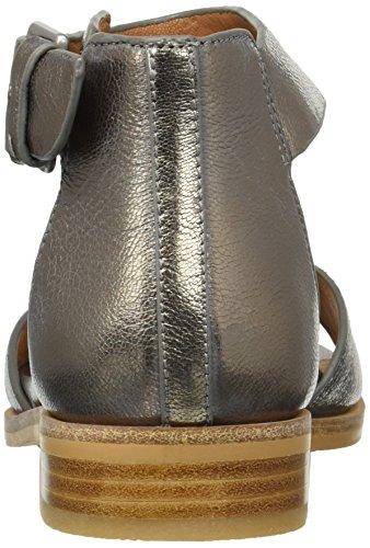 Medium Gentle gracey Ankle Souls Sandal Pewter Women's Flat Strap PwPT0Sq