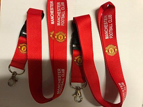 2 x Lanyard Key Chain Keyring Holder MANCHESTER UNITED - Lanyard Manchester United