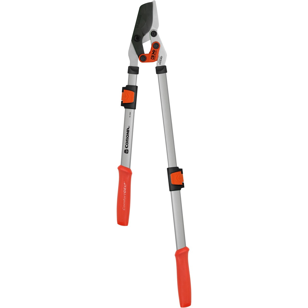 "Corona DualLINK with ComfortGEL Grip Extendable Heavy Duty Bypass Limb and Branch Lopper, Cuts Up to 1 3/4"", SL 4364"