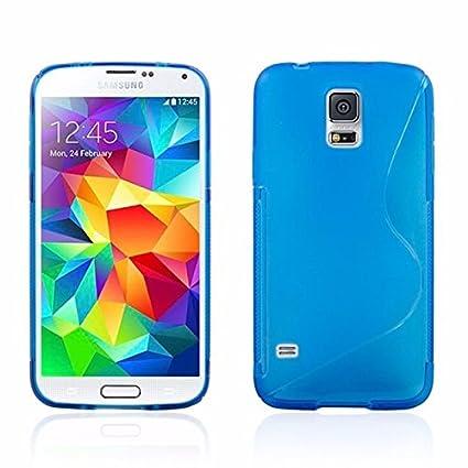 New Blue Sline Wave Gel de silicona Carcasa para Samsung ...