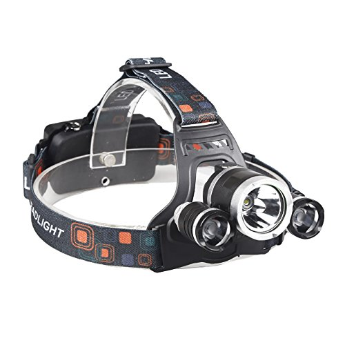 X.Store 8000 Lumens Headlamp LED Flashlight Bright Headlight Torch with 18650 Rechargeable Batteries and Wall Charger for Outdoor by X.Store (Image #1)