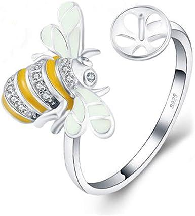 Beautiful Bumblebee gemstone handmade silver plated ring