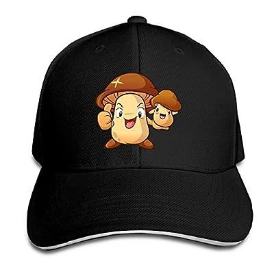 Cute Lovely Cartoon Mushroom Custom Sandwich Peaked Cap Unisex Baseball Hat