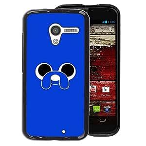Supergiant (Blue Cute Animal Cartoon Eyes Dog) Impreso colorido protector duro espalda Funda piel de Shell para Motorola Moto X 1 1st GEN I