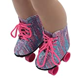 Voberry Roller Skates 18 Inch Dolls - Roller Skates American Dolls - The Cutest Doll Shoes Doll Accessories (Multicolor)