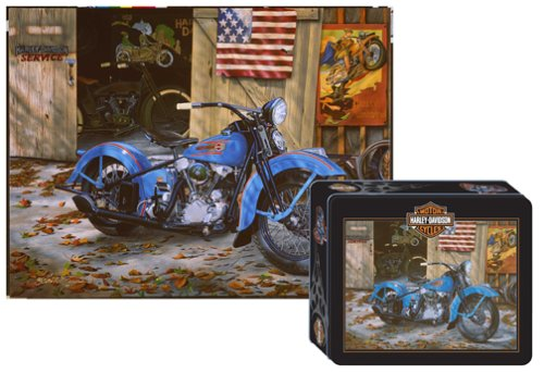 Harley Davidson At Your Service Tin Jigsaw Puzzle 1000pc