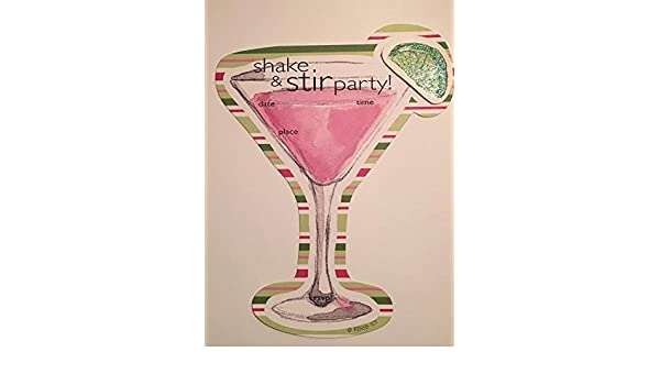 Amazon.com: Shake and Stir Party Fill-in Invitations with Envelopes (16): Health & Personal Care
