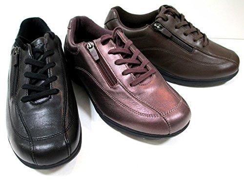 【最高の履きやすさを貴方にプレゼント!!】[アシックス プラスコンフォート ] asics PLUSCOMFORT TDW743 レディース 牛革靴 仕事靴 旅行靴 軽量 フラットヒール ウォーキングシューズ ブラック?パールワイン?ダークブラウン