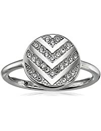 Fossil Womens Chevron Glitz Ring