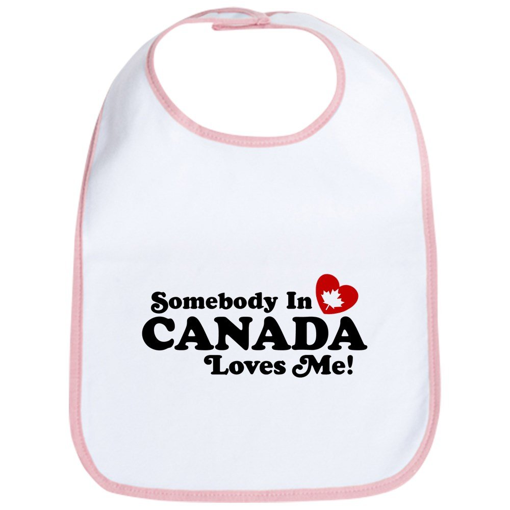 CafePress - Somebody In Canada Loves Me Bib - Cute Cloth Baby Bib, Toddler Bib