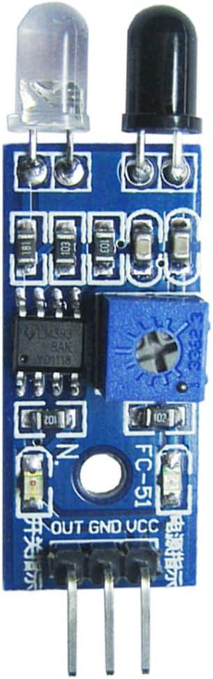 Grebest Obstacle Avoidance Module Car Interior Parts Sensor Module 3 Pin Infrared Obstacle Avoidance Sensor Module DIY Car Robot Smart Electronics