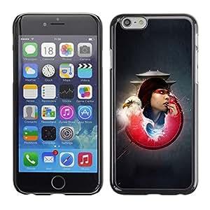 Be Good Phone Accessory // Dura Cáscara cubierta Protectora Caso Carcasa Funda de Protección para Apple Iphone 6 Plus 5.5 // Bald Eagle Samurai Girl