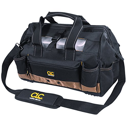 Bag Clc Tote - CLC Custom Leathercraft 1534 16 Inch Tote Bag with Top Plastic Tray and 23 Pockets