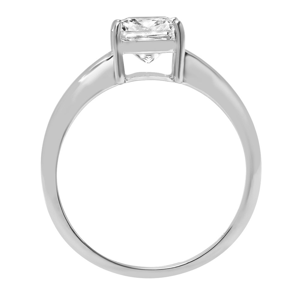 1.5ct Cushion Brilliant Cut Classic Solitaire Designer Wedding Bridal Statement Anniversary Engagement Promise Ring Solid 14k White Gold, 5.5 by Clara Pucci (Image #1)