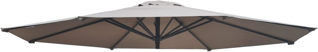 BenefitUSA Umbrella Cover Canopy 11.5ft 8 Rib Patio Replacement Top Outdoor-taupe