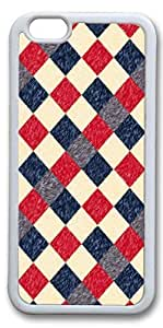 iPhone 6 Cases, Personalized Protective Case for New iPhone 6 Soft TPU White Edge Plaid