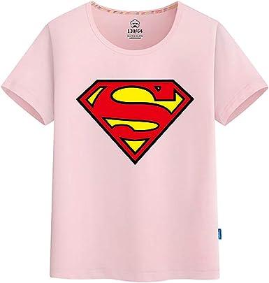 Camiseta Niño Superman Imprimir Manga Corta Verano Cuello Redondo ...