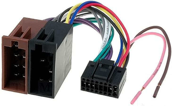 16 Pin to ISO Lead Wiring Loom Power Adaptor Wire Radio Connector Harness for JVC New Radio