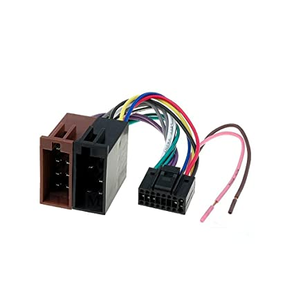 Amazon.com: 16 Pin to ISO Lead Wiring Loom Power Adaptor ... on 7 way trailer wiring harness, jvc car stereo wiring harness, automotive wire connector wiring harness,