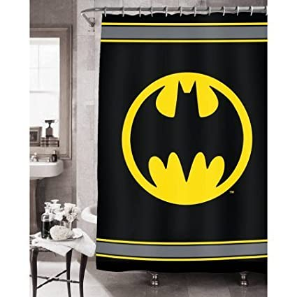 Amazon Com Batman Bathroom Set Shower Curtain Bath Rug Waste