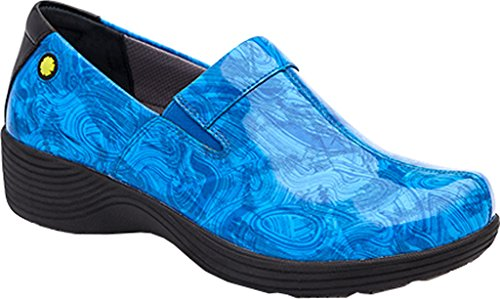 Work Wonders by Dansko Women's Coral Slip-On Blue Printed Patent