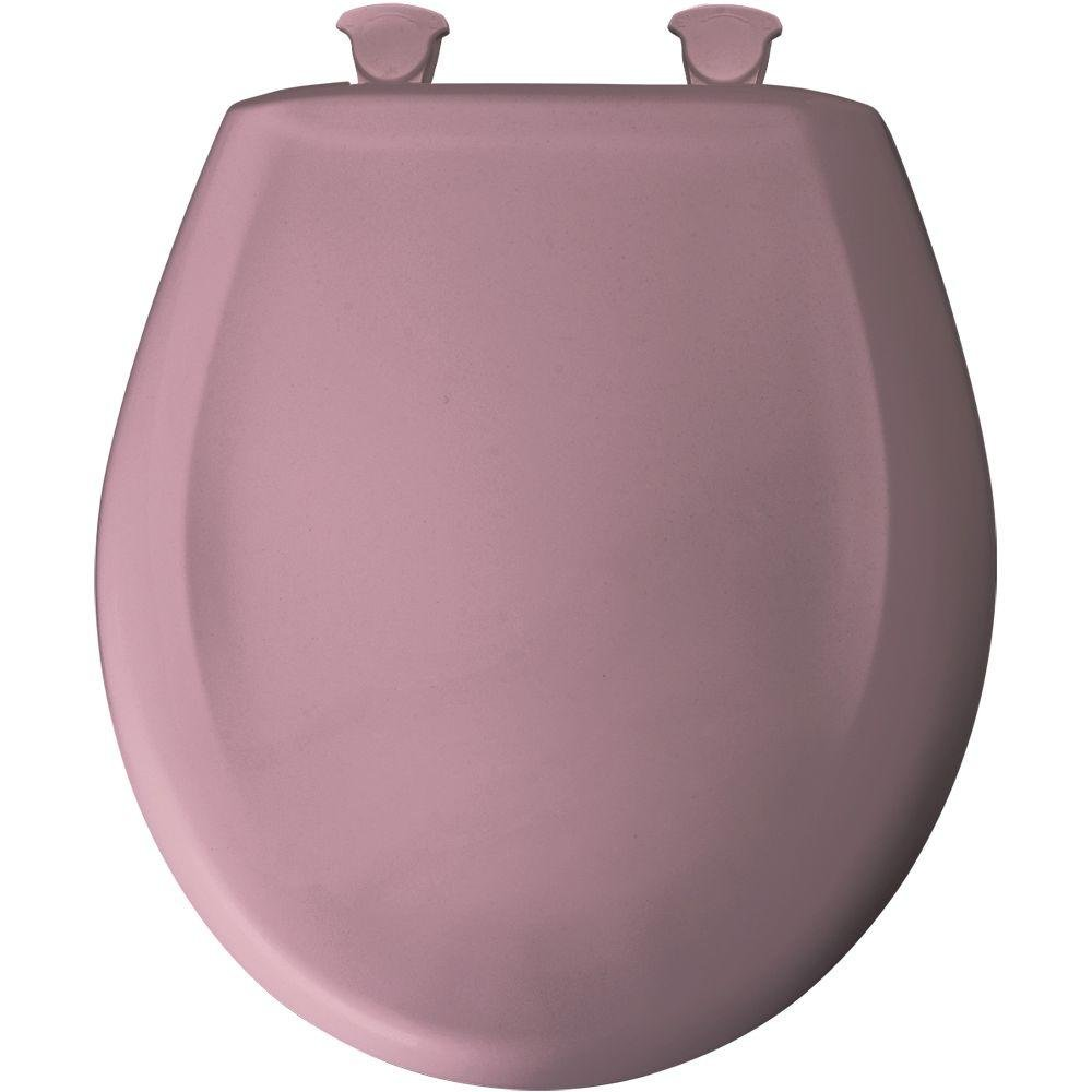 Bemis 200SLOWT 303 Lift-Off Plastic Round Slow-Close Toilet Seat Dusty Rose Clauss