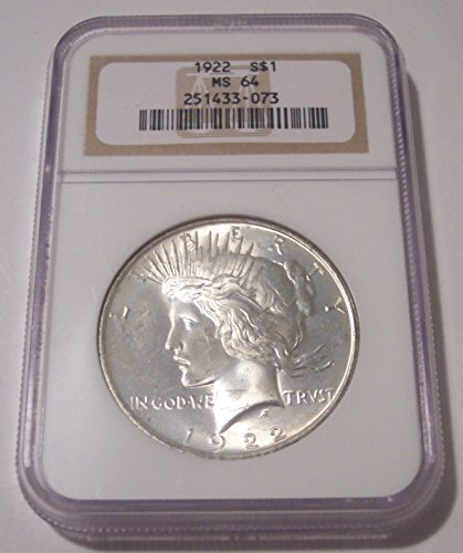 1922 Peace Silver Dollar MS64 NGC