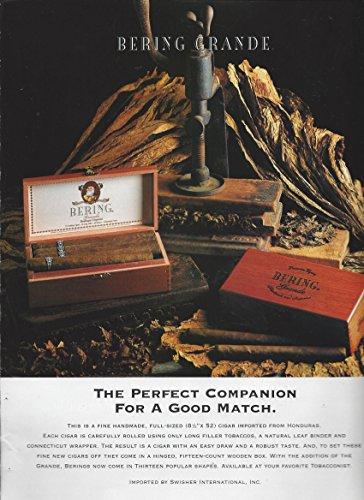 **PRINT AD** For 1998 Bering Cigars Grande Cigar Press Scene **PRINT AD**