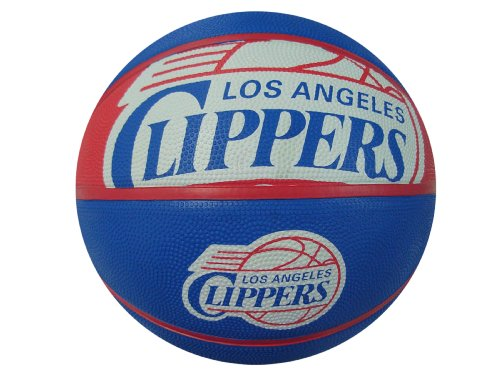 fan products of Spalding NBA Los Angeles Clippers Courtside Rubber Basketball