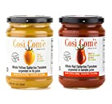 Così Com'è - Italian Whole Unpeeled Red and Unpeeled Yellow Datterino Tomatoes in Tomato Juice, Each Jar 12oz (350g) / Drained 7.4oz (210g) - Pack of 2 offers