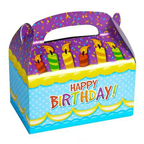 Gift Kids Box (Party Favor Happy Birthday Gift Treat Boxes (Pack of 12) - Play Kreative TM (Happy Birthday))
