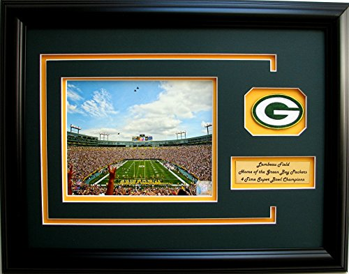 NFL Green Bay Packers Photo Frame with Team Patch and (Nfl Team Photo)