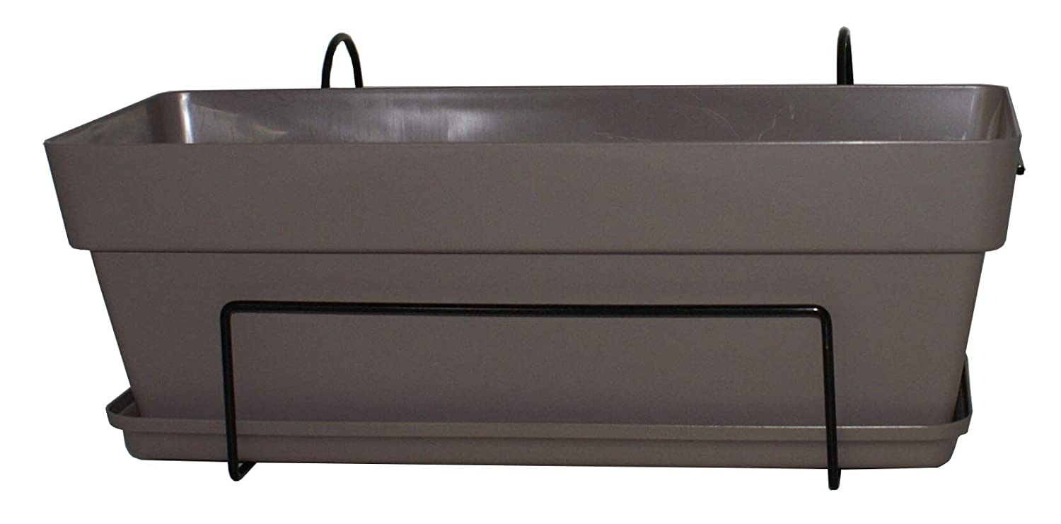 Chapelu Corpiot Flower Box 50 cm with Metal Bracket Taupe