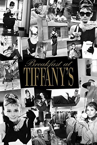 Audrey Hepburn Breakfast at Tiffanys Poster - Breakfast Sunglasses Tiffany At