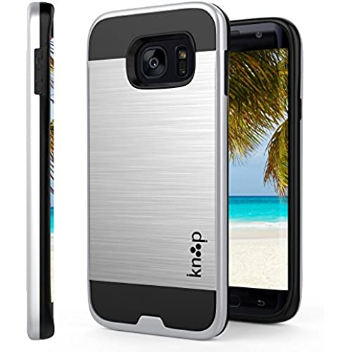 Galaxy S7 Edge Case Silver, Beautifully Protected By Knooop - Stylish Advanced Protection Cell Phone Covers - Sales