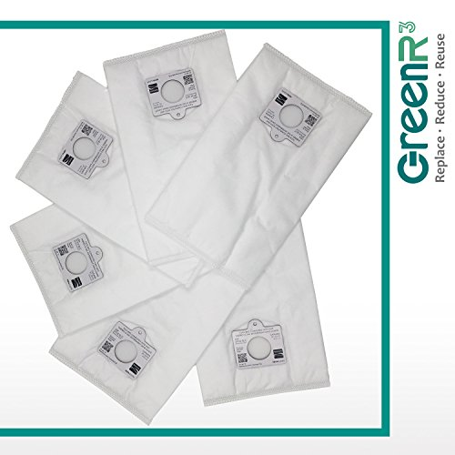 GreenR3 6-PACK Paper Bag Air Filters Vacuum Cleaners for Kenmore Type Q C fits Whispertone Intuition Elite Progressive Panasonic MC-CG902 C-19 119 Series Panasonic MC-CG973 Model Part and more