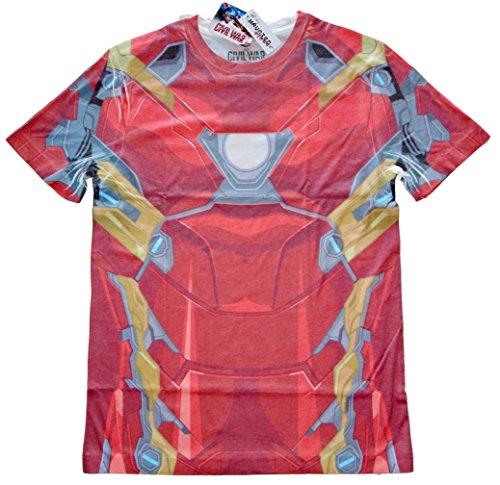 Marvel Iron Man Mens Costume T-shirt M (Iron Man Halloween Suit)
