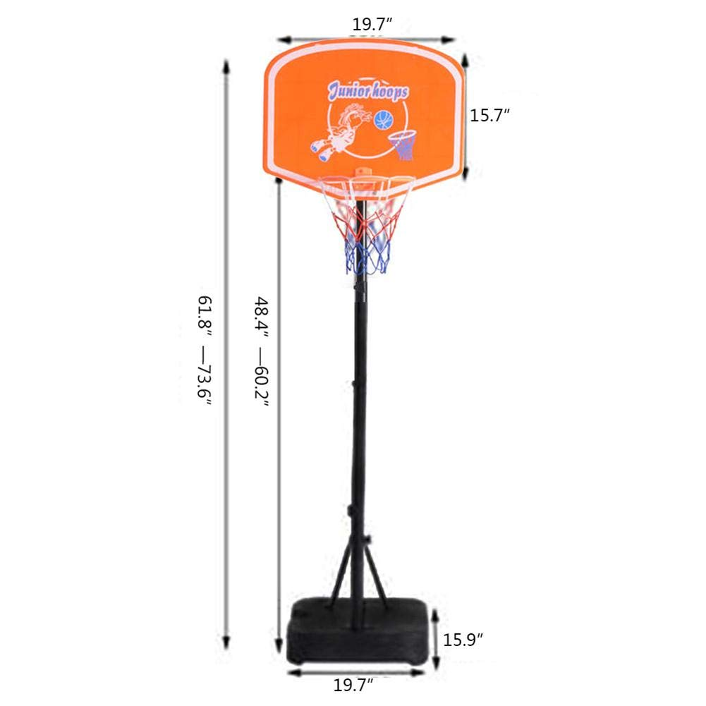 Swanluck Height Adjustable Basketball System Basketball Stand for Kids Junior Youth Indoor//Outdoor