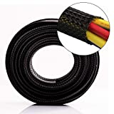 25ft - 5/8 inch Flexo PET Expandable Braided Sleeving Braided Cable Sleeve