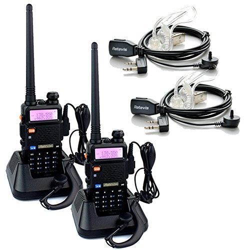 Retevis RT-5R Walkie Talkies 5W 128CH VHF/UHF 136-174/400-520 MHz DTMF/CTCSS FM 2 Way Radio Handheld Ham Amateur