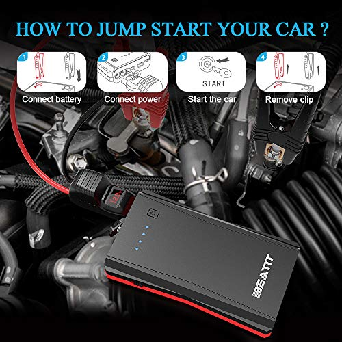 BEATIT B10PRO QDSP 800A Peak 12V Portable Car Lithium Jump Starter (up to 7.2L Gas or 5.5L Diesel Engine) Battery Booster Phone Charger Power Pack with Intelligent Jumper Cables by BEATIT (Image #6)