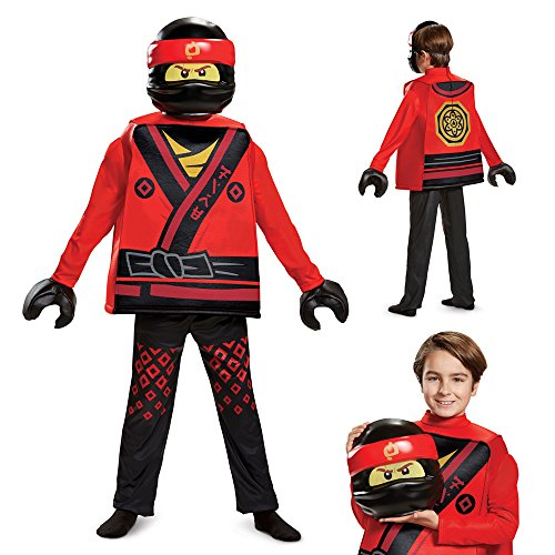 Disguise Kai Lego Ninjago Movie Deluxe Costume, Red, Small (4-6) ()