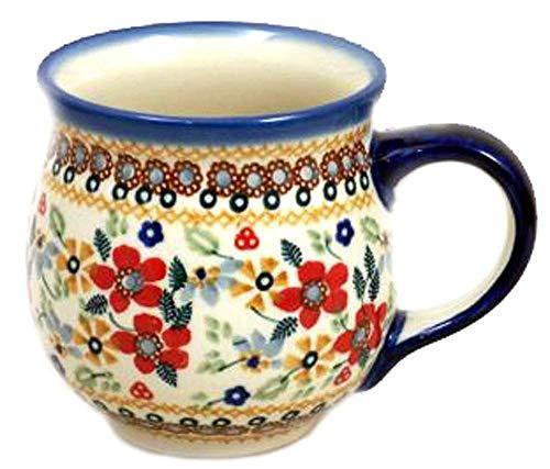 Polish Pottery Large 16 Ounce Bubble Mug in Signature DPLC or Christmas Posies ()