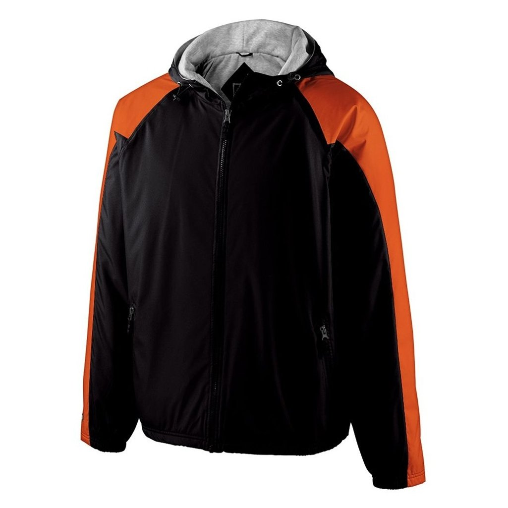 Holloway Youth Homefield Shell Jacket (X-Large, Black/Orange) by Holloway