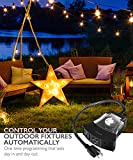 Outdoor Timer 3 Outlet, Fosmon 15A 24-Hour [3 US