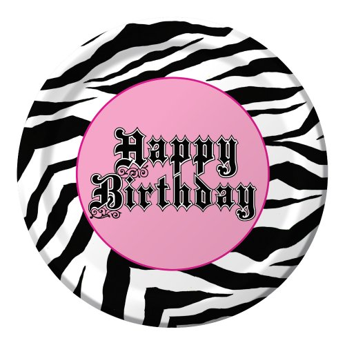 Creative Converting Super Stylish Happy Birthday 8 Count Paper Lunch Plates]()