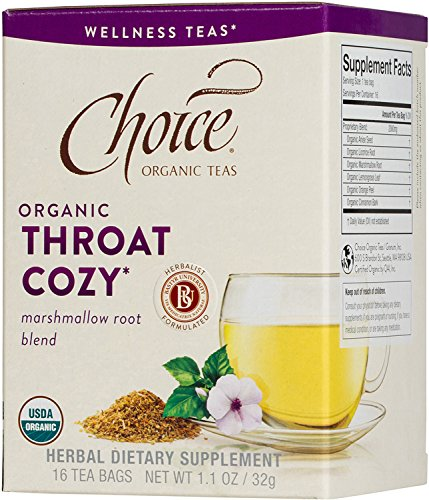 Choice Organic Teas Wellness Teas, 16 Tea Bags, Throat Cozy